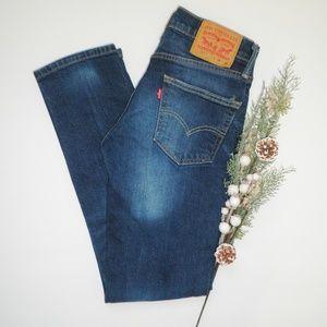 Mens Medium Wash Levi's 511 Slim Fit Jeans 28/32